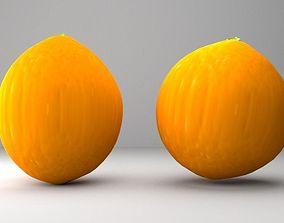 3D model tasty orange fruit