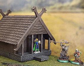 Modular fantasy viking house 3D print model