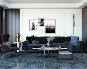 3D model animated Livingroom Design