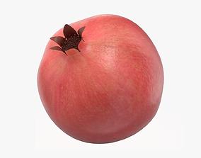 3D Pomegranate ripe whole