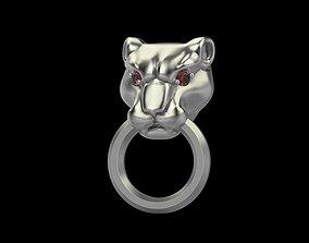 Earrings Panther 3D print model