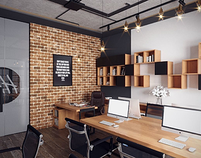 3D Small Industrial office