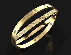 Cartiero double bracelet 3D print model