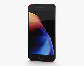 Apple iPhone 8 Plus Red 3D