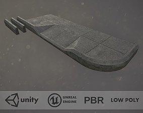 3D model Sidewalk - Modular Set 1 Color Options