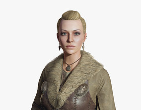 Viking Woman 3D model rigged