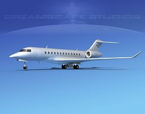 3D model Global Express 6000 Bare Metal