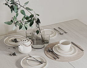 Table setting 3 3D