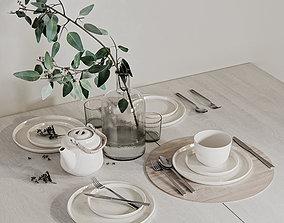 fork 3D model Table setting 3
