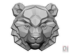 3D printable model Bear face panda relief polygon art