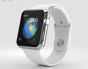 Apple Watch Series 2 42mm Stainless Steel Case White 3D 1