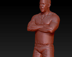 VIN DIESEL DOMINIC TORETTO FAST AND FURIOUS 3D print model