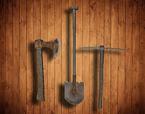 Working tools 3D asset