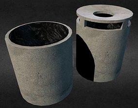 Trash - Paper Bin - low poly 3D asset