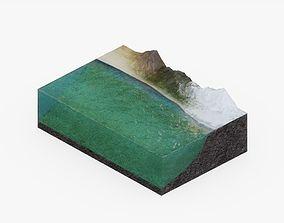 Ocean Floor Visualization 3D asset
