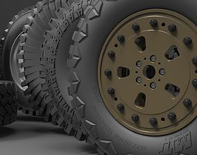 Offroad wheel 3D CAD Library