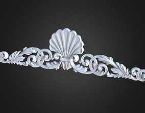 3D printable model ornament cnc Cartouche