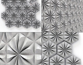 Hexagonal panel with pattern n1 3D