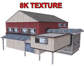 Old Industrial Hangar 3D asset