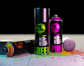 3D asset Spray Paint
