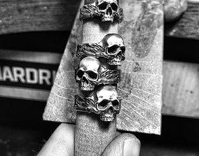3D print model skull ring scullring