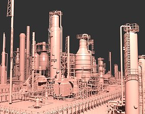 3D Mega Oil Refinery