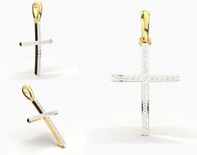 3D print model JESUS CROSS DIAMOND PENDANT