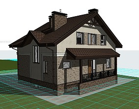 Private House complete project for 3D model