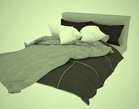 king size bed 3D model furniture