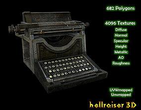3D asset Typewriter - Textured