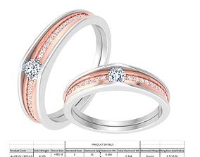 Couple Band Ring 3dm stl detail fashion