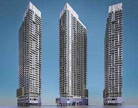 Apartment Building 02 3D model
