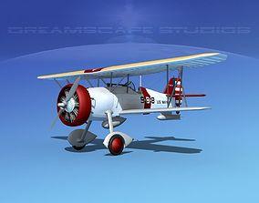 Curtiss F-11-C2 Goshawk V06 3D model