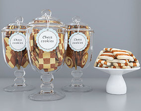 Chess cookie jars 3D model