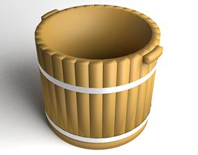 Basin Wooden 3D