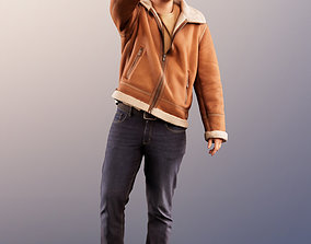 11574 Jeremy - Smiling Casual Man Walking And Waving 3D