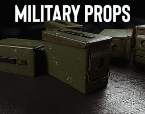 guns Ammo box 3D model low-poly