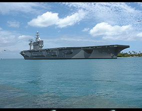 USS CVN 68 Nimitz aircraft carrier 3D