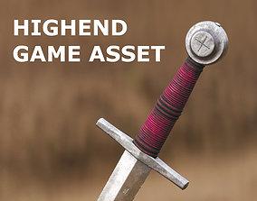 3D model Medieval Dagger for Games and Cinematics 07