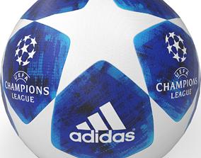 3D asset low-poly Football ball