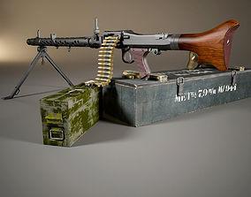 3D model German MG-34 machine gun set