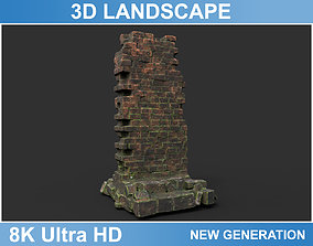 3D asset Low poly Ruin Medieval Construction 06 2020