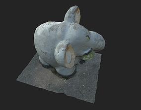 elephant sculpture 3D asset