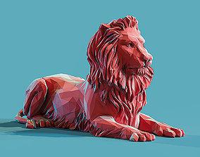 Lion 3 Low poly Papercraft 3D printable model