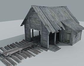 Sawmill Medieval 3D asset