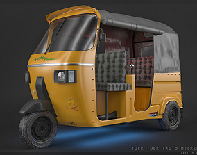 Tuck Tuck Three wheel 3D