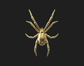 pendant Spider relief 3D print model