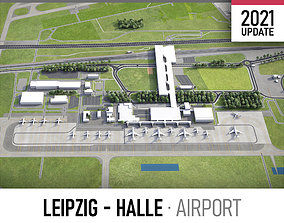 3D model Leipzig - Halle Airport