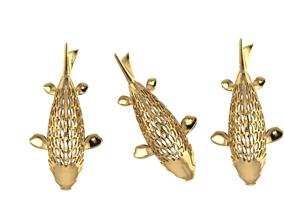 fish gold 3d model