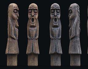 3D model Totem wood 4 pbr 4k